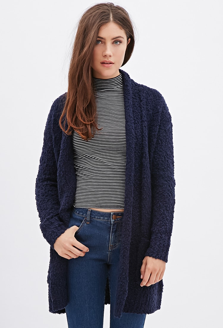 Forever 21 Chunky Knit Longline Cardigan