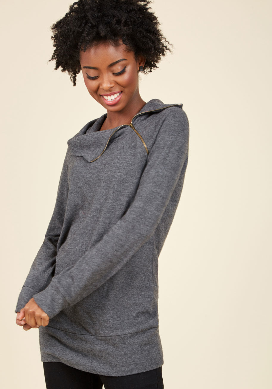 Modcloth Stay Inn Sweater in Grey