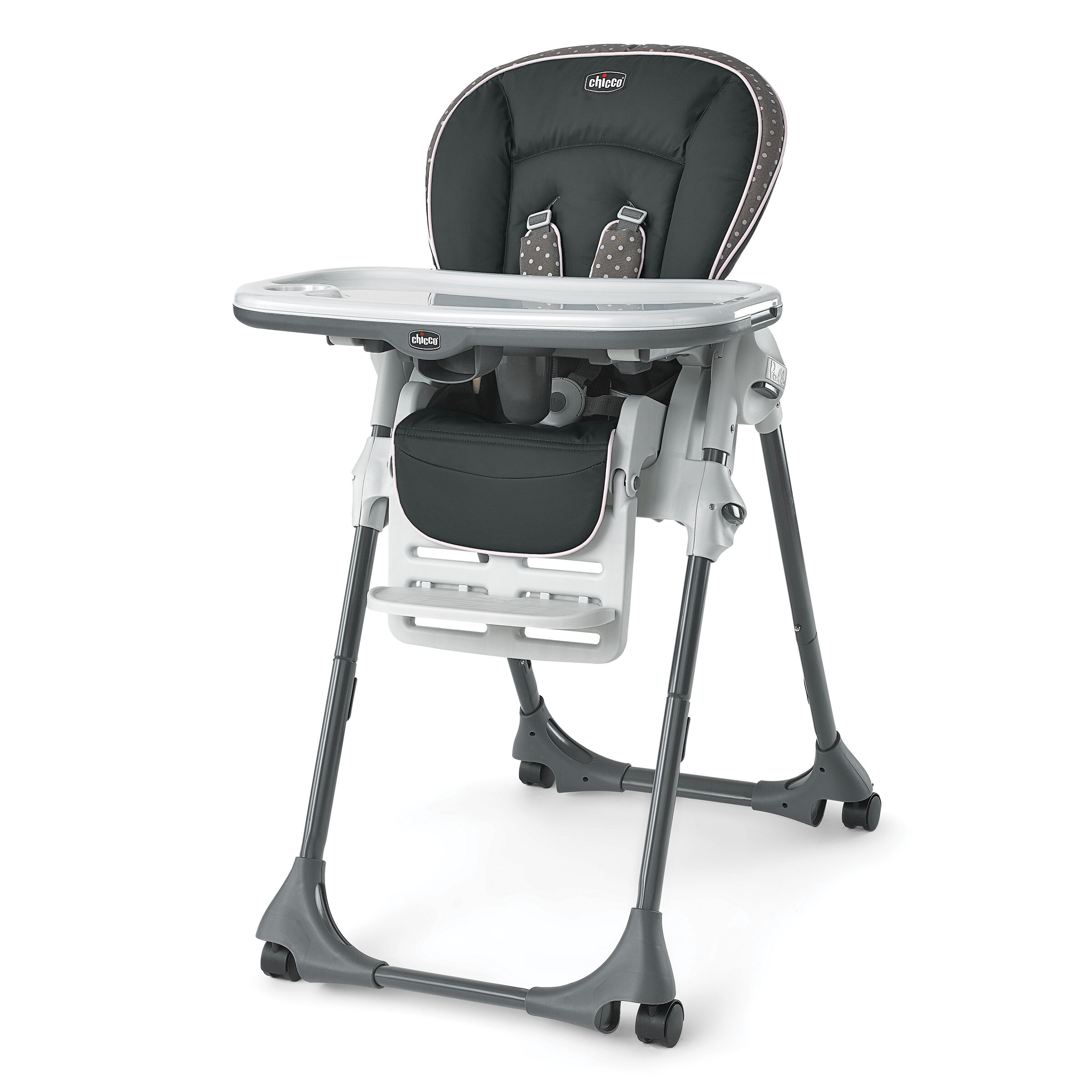 attachable high chair pub style chairs highchairs boosters chicco polly highchair