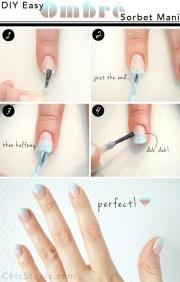diy easy ombre sherbet nail art