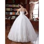 Ball Gown Wedding Dress - White Floor-length Strapless