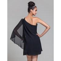 Short/Mini Chiffon Bridesmaid Dress - Black Plus Sizes ...