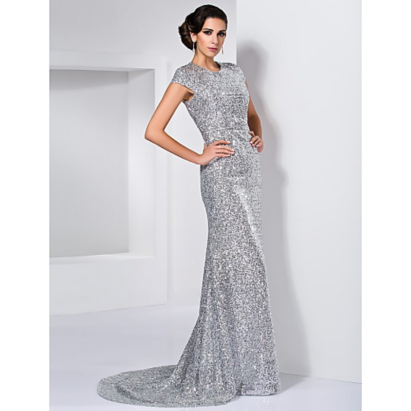 Sequin And Dress Silver Black