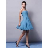 Knee-length Chiffon Bridesmaid Dress - Pool Plus Sizes ...
