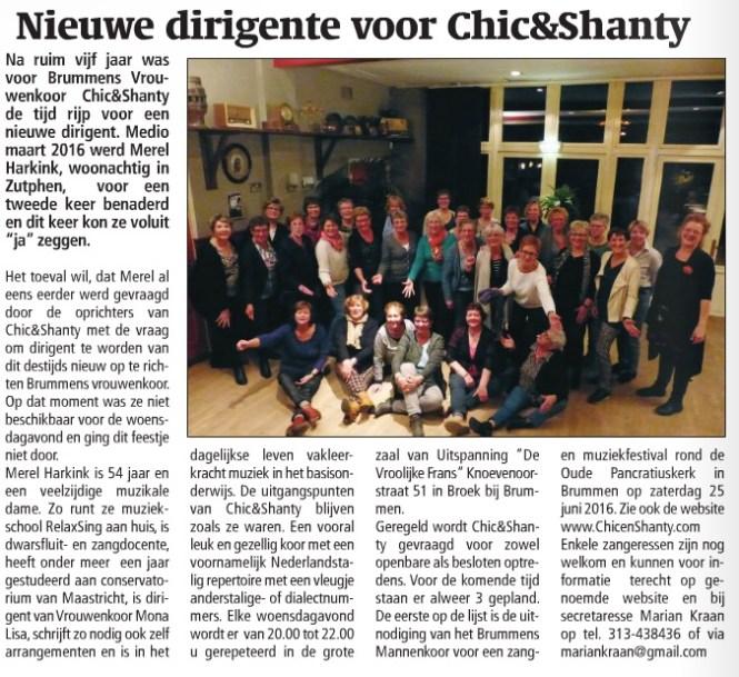 Chic en Shanty, Vrouwenkoor Brummen, Koor Brummen, Chic & Shanty
