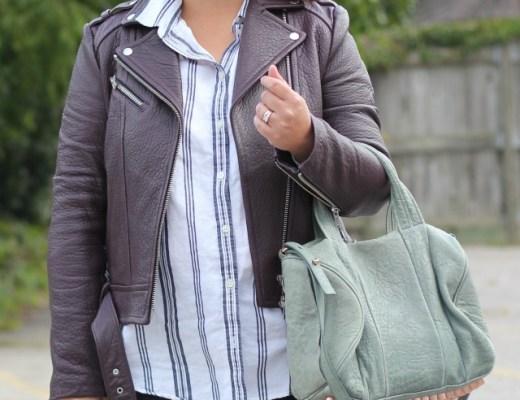 work stripes, mackage jacket