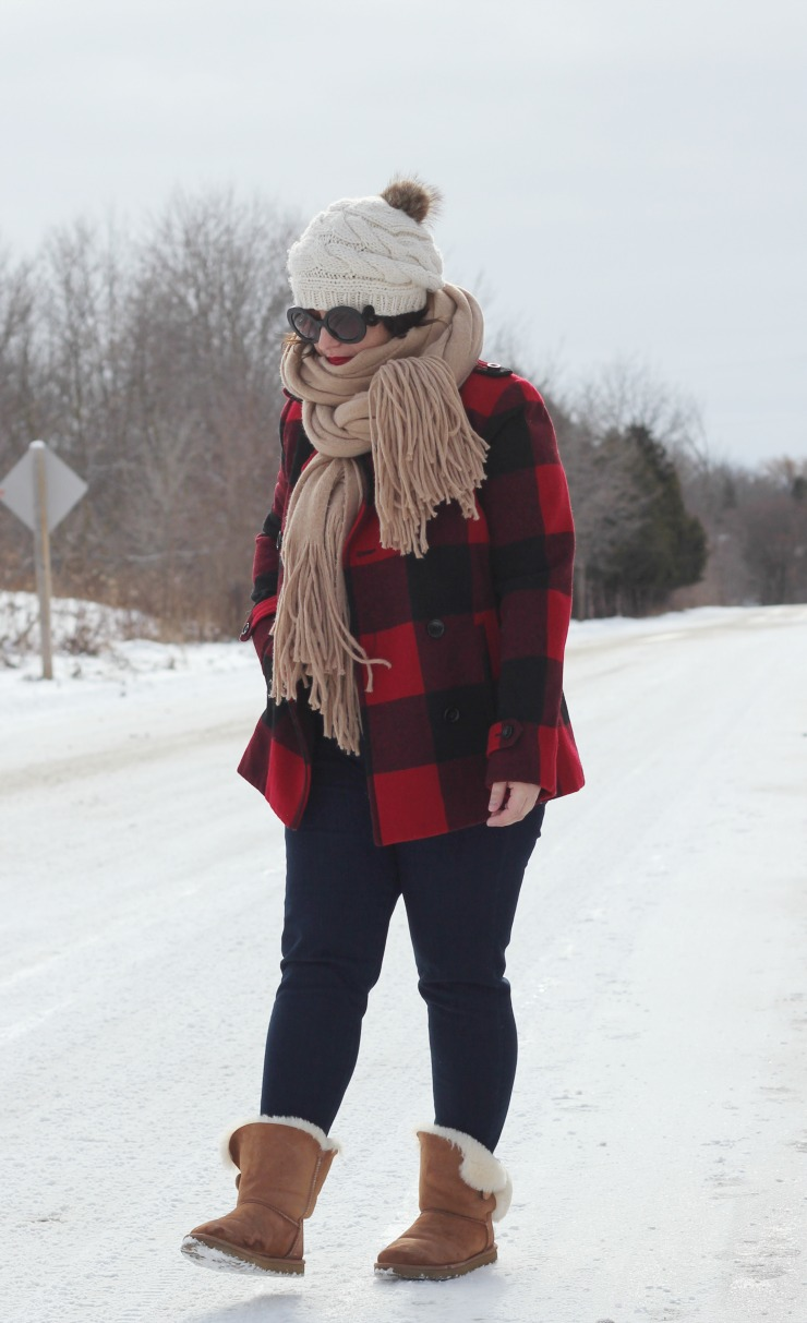 buffalo plaid outfit, buffalo plaid check coat
