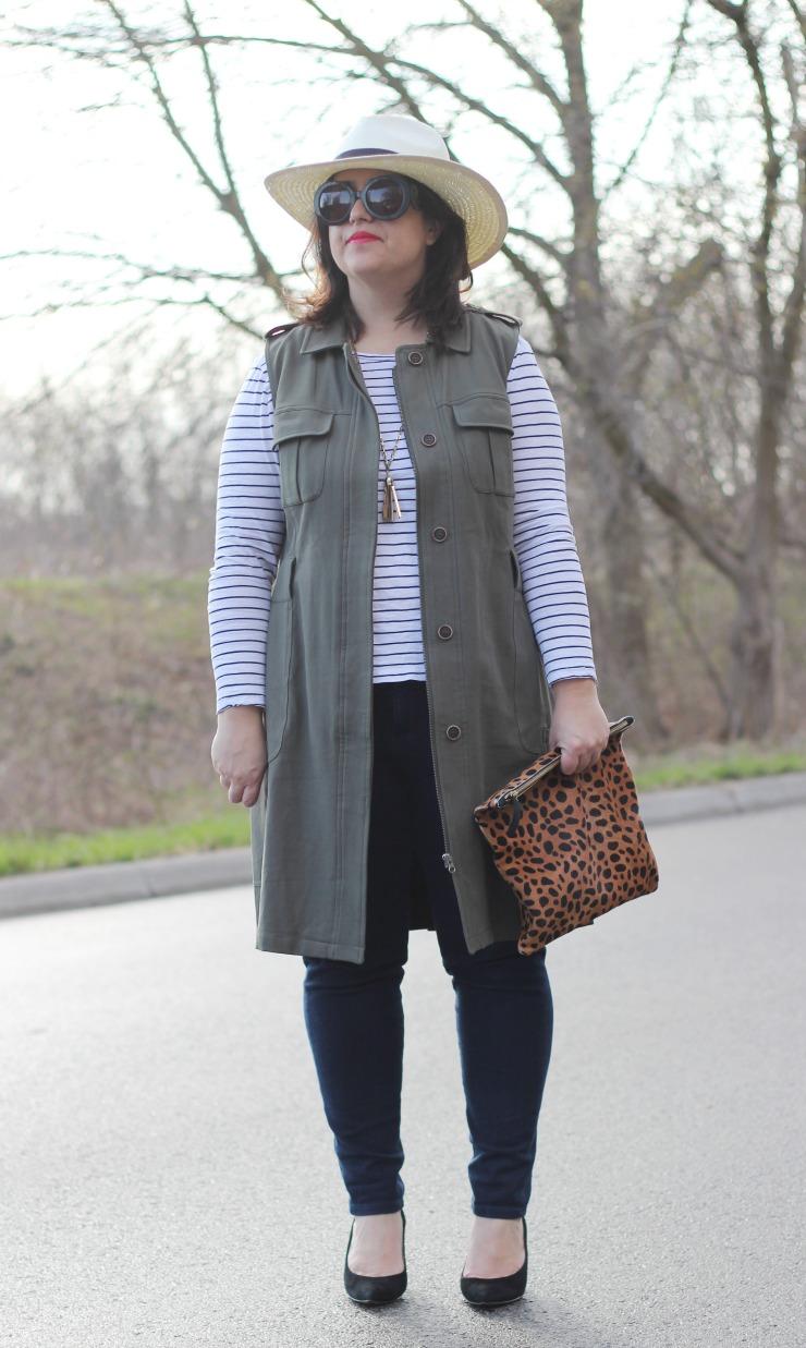green khaki vest
