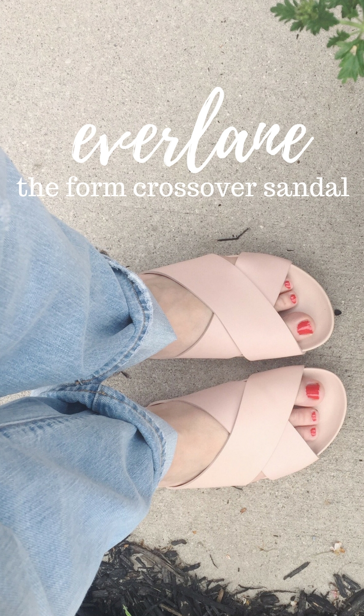 everlane form crossover sandal review
