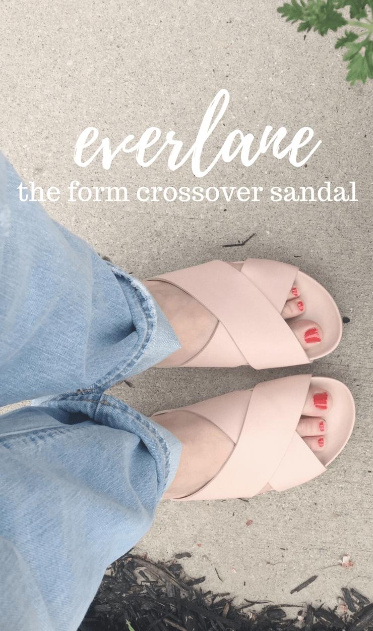 everlane form crossover sandal review