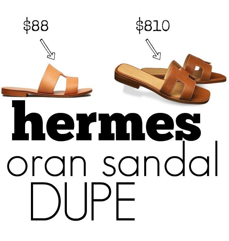 hermes oran sandals dupe