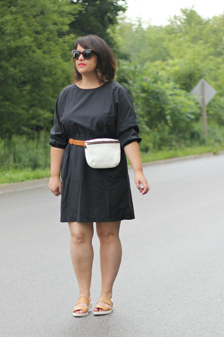 hm black cotton dress