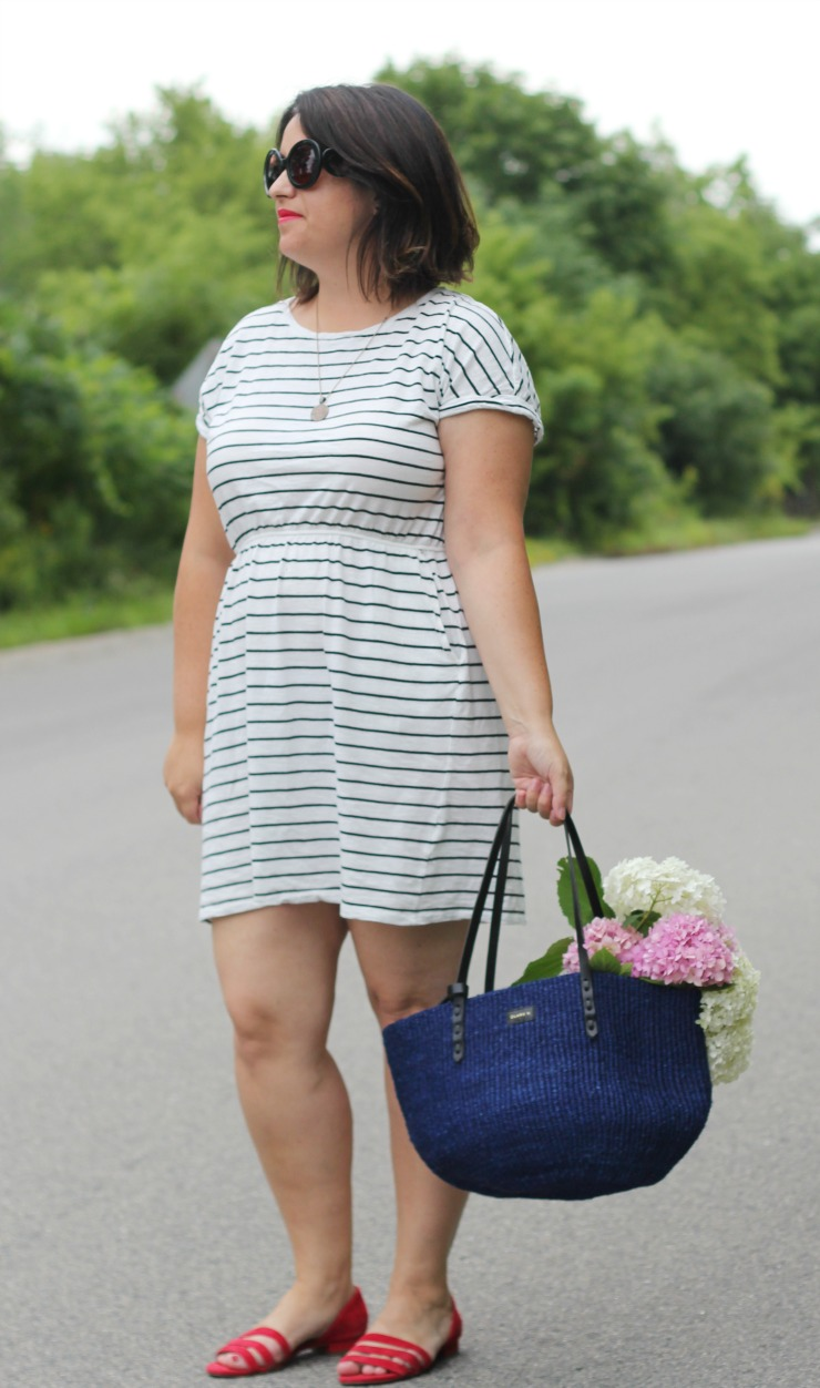 hm short sleeve jersey dress