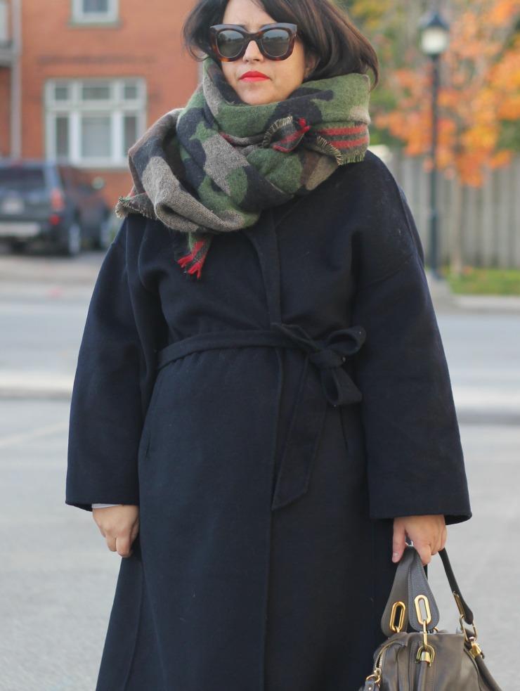 zara camo scarf