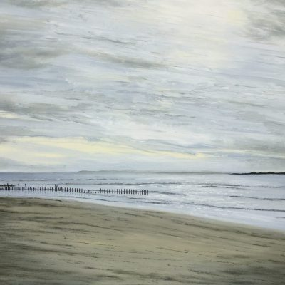Stormy Afternoon at East Head - Oil on Canvas - 75 x 60cm - by Sheila Threadgill