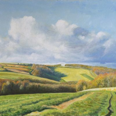 Autumn, West Dean Estate - Acrylic - 80 x 40 cm - by Richard Whincop