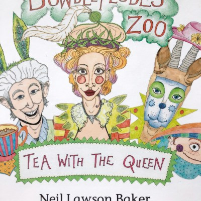 TEA WITH THE QUEEN - Book - 20x20cms - by Neil Lawson Baker