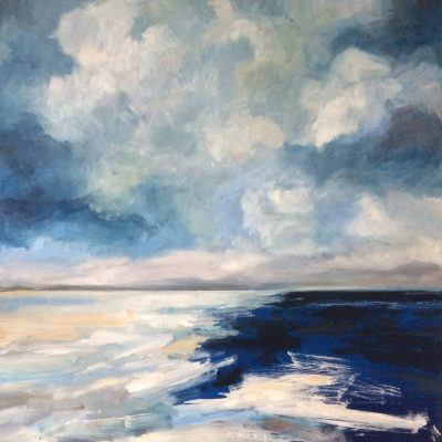 Blue Beach - oil - 72 x 72 cm - by James Ware