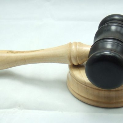 Gavel & Block - Turned wood - 105mm x 205mm & 100mm x 35mm - by Iain Grant