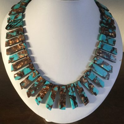 Jan culverwell No.3. Bronzite and Resin Necklace - Jewellery - 20 inches - by Jan Culverwell