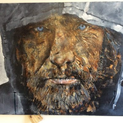 Homeless - oil on canvas - 100cm x 50cm - by Grahame Dudley