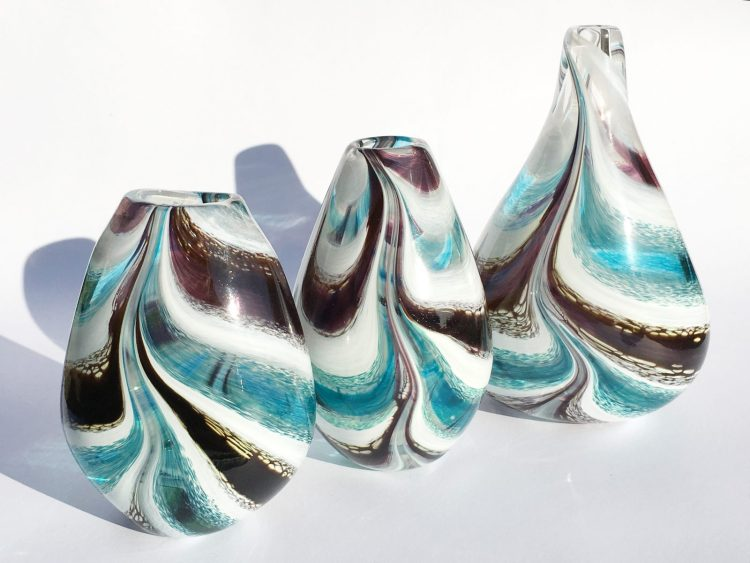 Turquoise River Vases - Glass