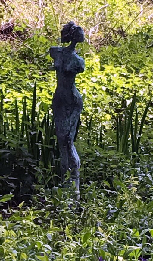 Lucretia 3 - Verdigris bronze resin on oak