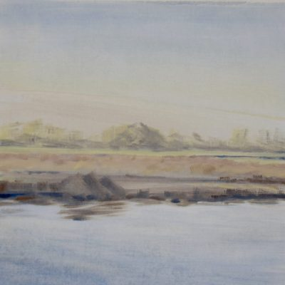 Quiet - oil on board - 33 x 33cms - by Isabel Dodson