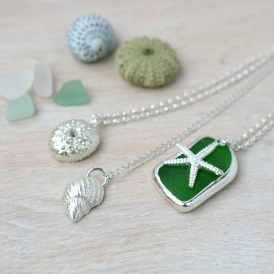 petraworth2.jpg - pure fine silver and sea glass - 2.5cm to 4cm - by Petra Worth