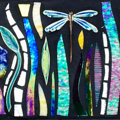 Dragonfly - Mixed media - 50cm x 17cm - by Tracey Lodge