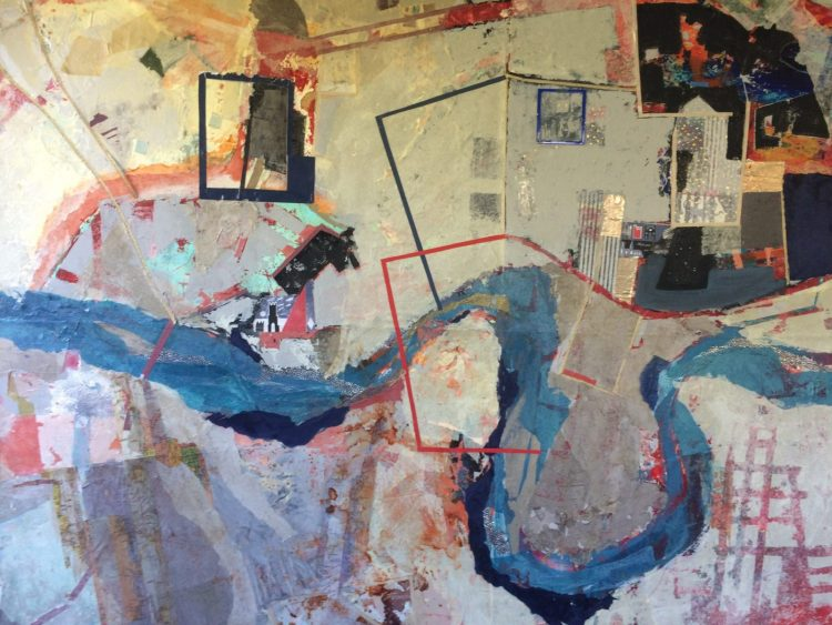 Detail of The City - Mixed media on canvas