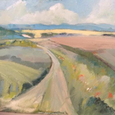 Walking the Downs - oil - 24