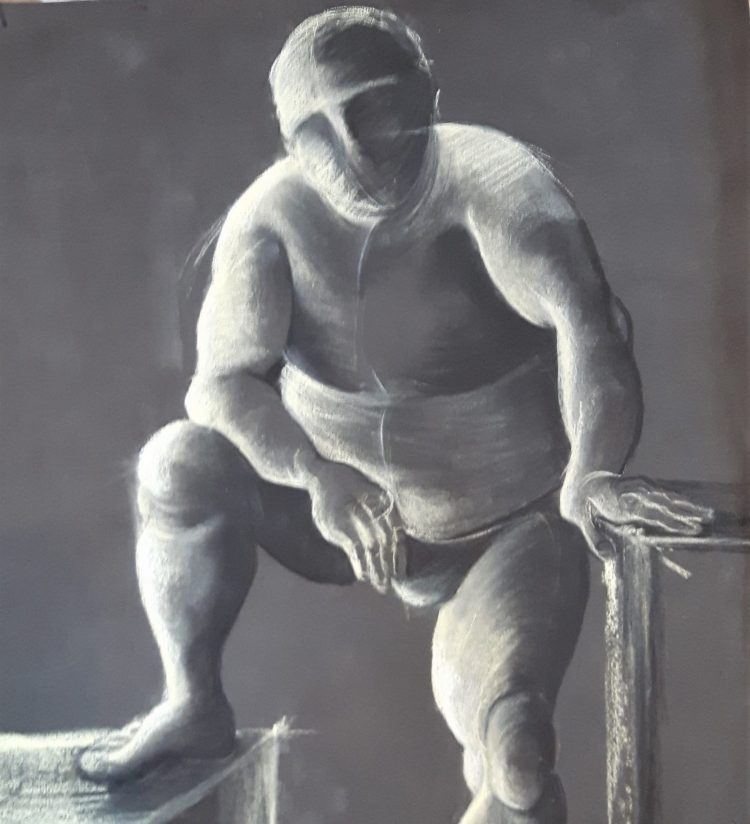 Life drawing - Chalk on paper