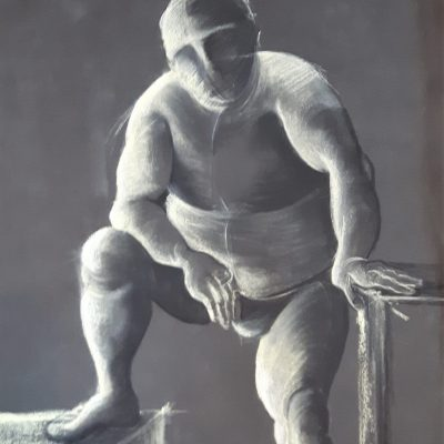 Life drawing - Chalk on paper - 995KB - by Pat Tempest