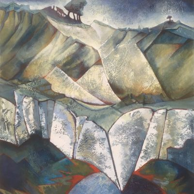 Over the Cliffs - oil on canvas - 107 x 97 cm - by Catherine Barnes