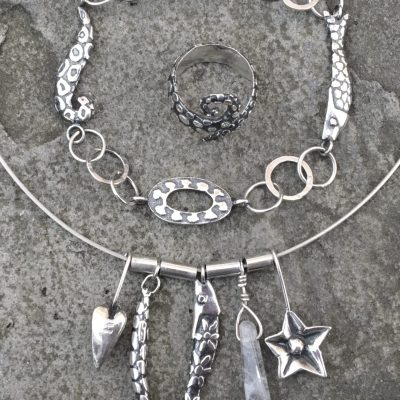 Funky Fish Jewellery - Silver - 30cm - by Tracey Lodge