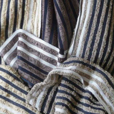 Silk and wool scarves - Handwoven silk and wool - 30cms x 180cms - by Geraldine St. Aubyn Hubbard