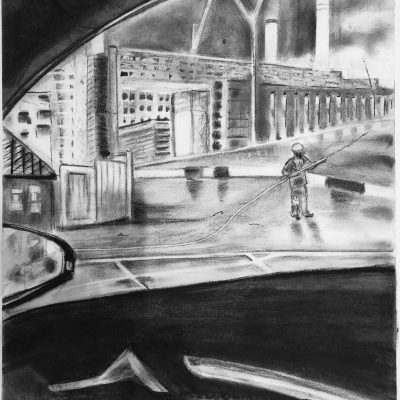 A Mile A Minute - Charcoal - A1 - by Amy Tattersall