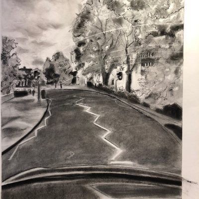 Highways & Byways - Charcoal - A1 - by Amy Tattersall