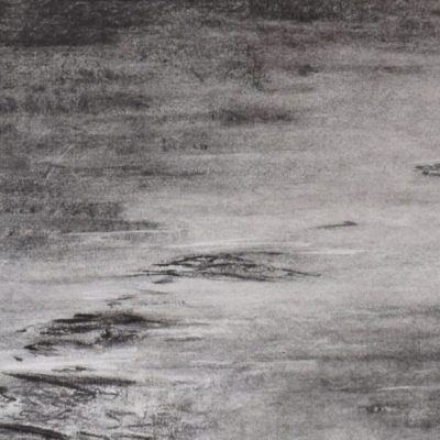 Lost to Time 2 - charcoal on paper - 90 x 39 cm - by Isabel Dodson