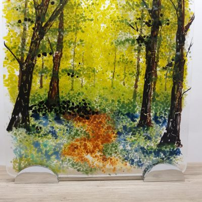 Spring forest - Fused glass - 20cm x 20cm - by Janet Woods-Lennon