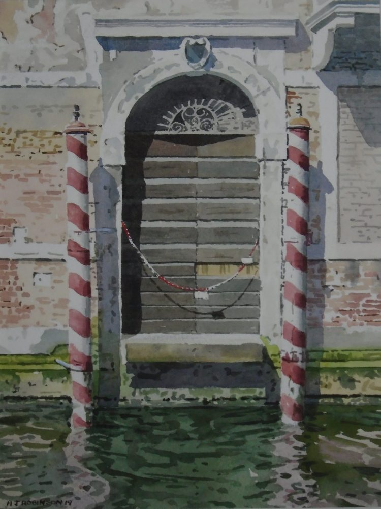 Venetian Water Door - Watercolour