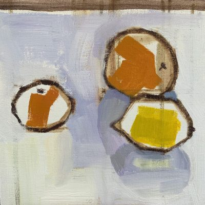 Yellow & Orange - Oil - 8 inches x 8 inches - by Laura Fletcher