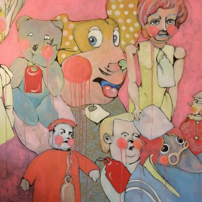 A Head Full of Friends - Acrylic on Canvas - 110 x 140cm - by Lauren Alderslade