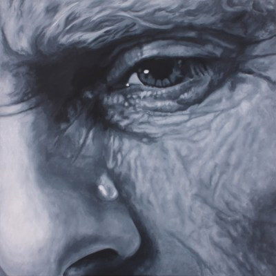 Crocodile tears 7 - Oil on canvas - 90cm x 90cm - by Natalie Dowse