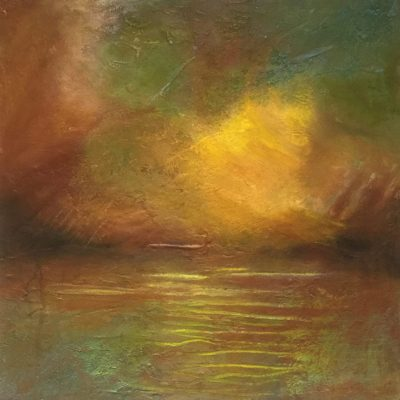 Eventide - Mixed Media painting - 36 x 36 cm - by Pat Griffin