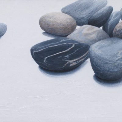 Pebbles - Acrylic - 30 ins w x 16 ins h - by Gilli Higgs