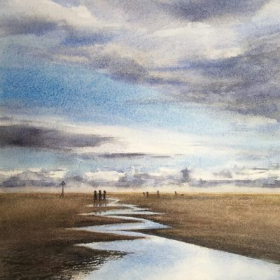 Walk at Wittering - Watercolour - 2.7MB - by Rosy Turner