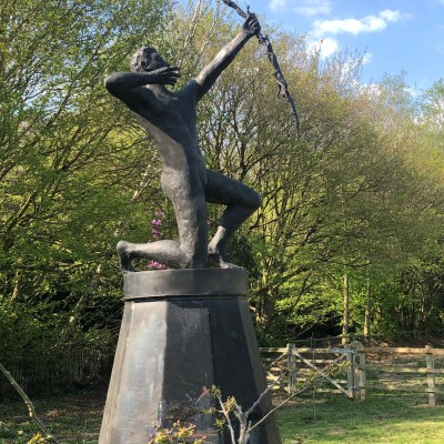 SPEAK TO US of CHILDREN - Resin for BRONZE - About 12 feet tall with base - by Neil Lawson Baker