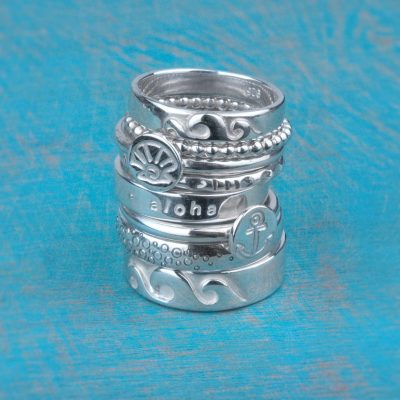 Assorted stacking rings - Sterling silver - Rings - by Tia Rolfe